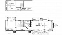 2019 Sandpiper Destination 399LOFT Floor Plan
