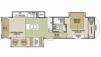 2018 Cedar Creek Silverback 33IK Floor Plan
