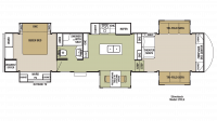 2018 Cedar Creek Silverback 37FLK Floor Plan