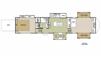 2018 Cedar Creek Silverback 37RTH Floor Plan