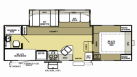 2003 Wildwood 24BHSS Floor Plan