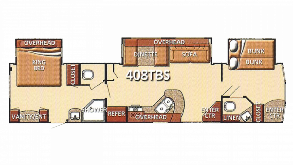 2013 Conquest Lodge 408TBS Floor Plan Img