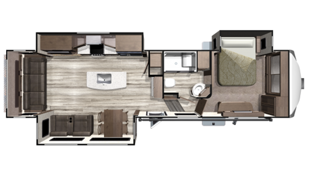 2019 Mesa Ridge MF314RLS Floor Plan Img