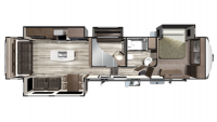 2019 Mesa Ridge MF371MBH Floor Plan