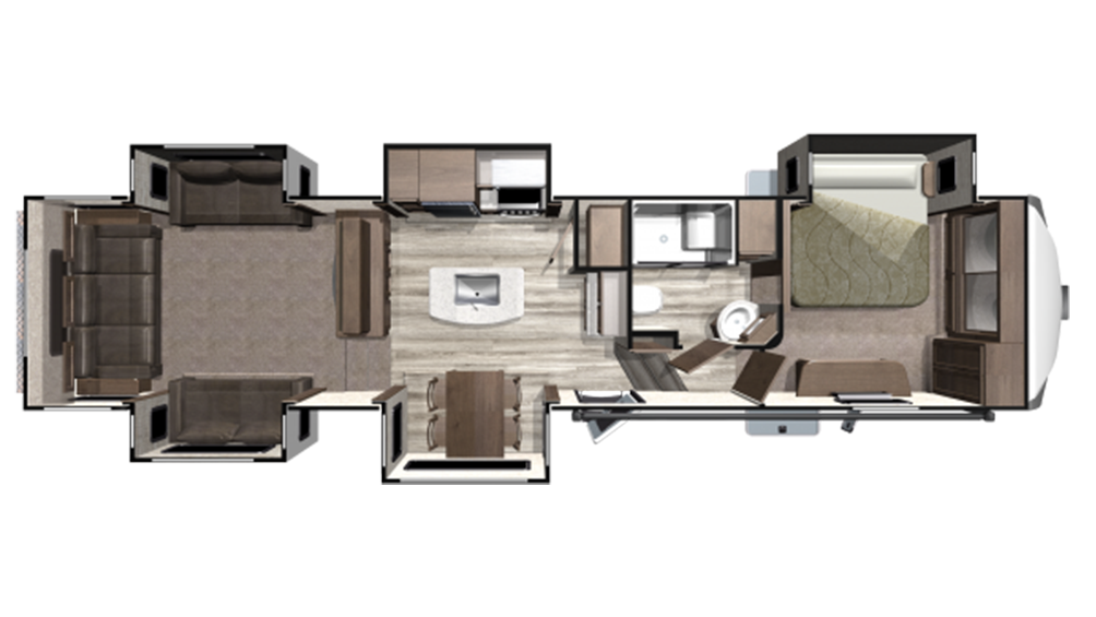 2019 Mesa Ridge MF375RDS Floor Plan Img