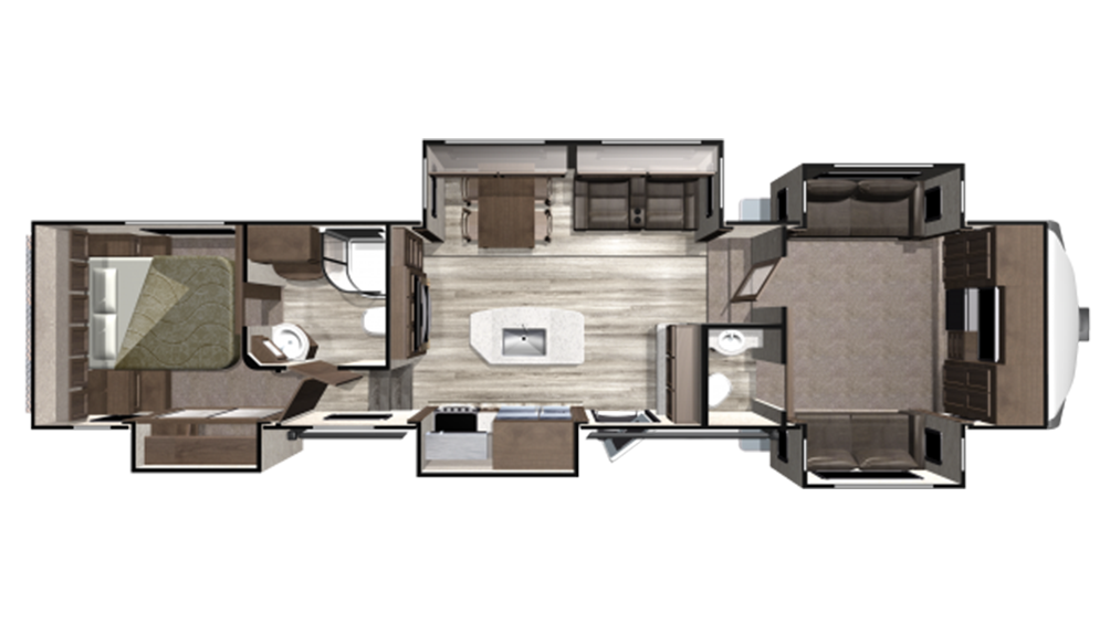 2019 Mesa Ridge MF376FBH Floor Plan Img