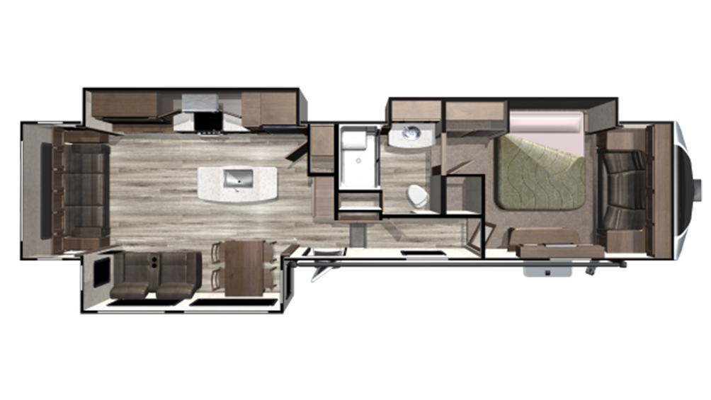 2019 Mesa Ridge MF384RLS Floor Plan Img