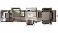 2019 Mesa Ridge MF373RBS Floor Plan