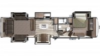 2019 Mesa Ridge MF375RDS Floor Plan