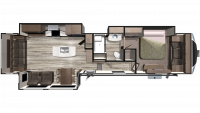 2019 Mesa Ridge MF384RLS Floor Plan