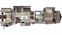 2019 Mesa Ridge MF427BHS Floor Plan