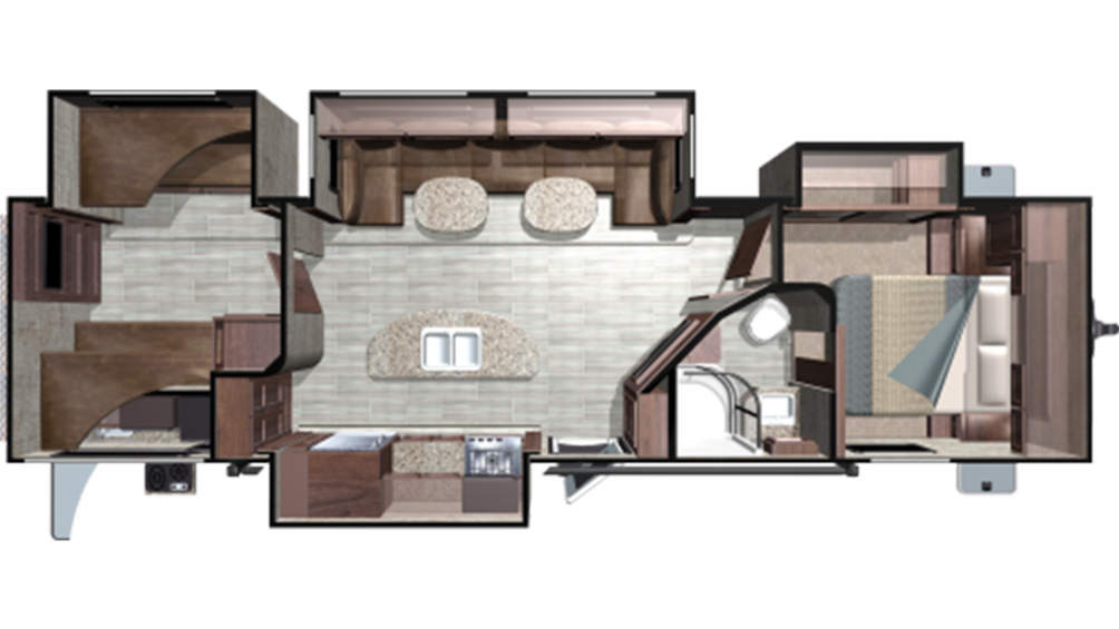 2018 Mesa Ridge MR310BHS Floor Plan Img