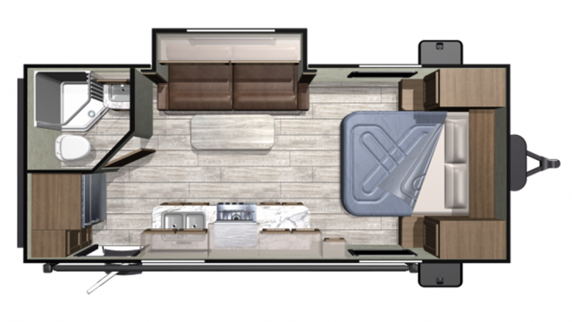 2019 Mesa Ridge Conventional 20FBS Floor Plan