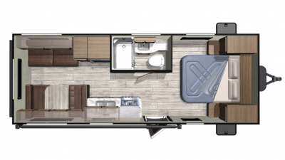 2019 Mesa Ridge Conventional 21FB Floor Plan Img