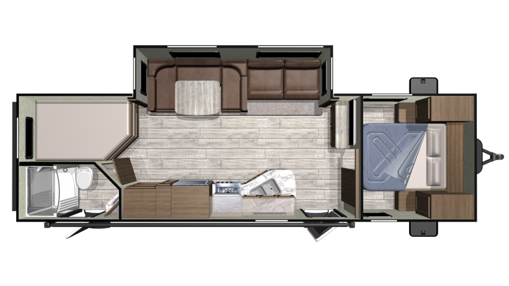 2019 Mesa Ridge Conventional 27BHS Floor Plan Img