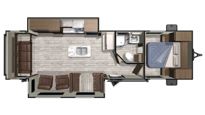 2019 Mesa Ridge Conventional 27RLI Floor Plan Img