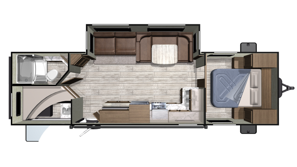2019 Mesa Ridge Conventional 282BH Floor Plan Img