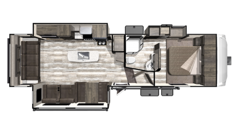 2019 Mesa Ridge Limited MF291RLS Floor Plan Img