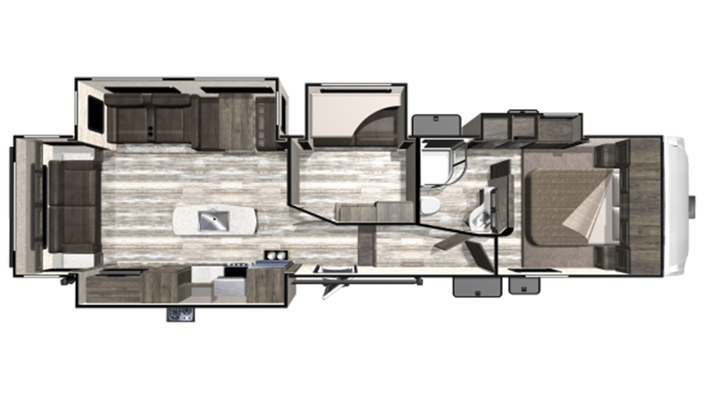 2019 Mesa Ridge Limited MF335MBH Floor Plan Img