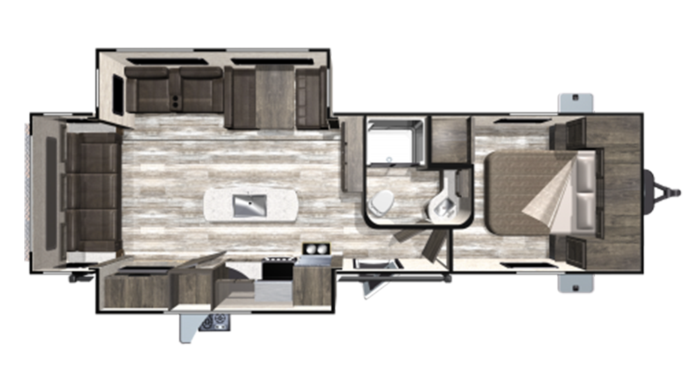 2019 Mesa Ridge Limited MR275RLS Floor Plan Img
