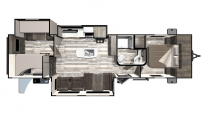 2019 Mesa Ridge Limited MR312BHS Floor Plan Img