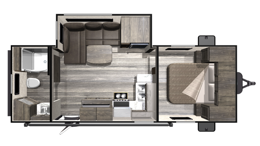 2019 Mesa Ridge Lite MR2102RB Floor Plan Img