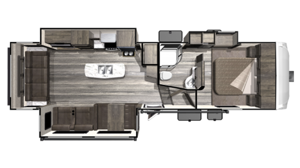 2019 Mesa Ridge Lite MF2910RL Floor Plan Img