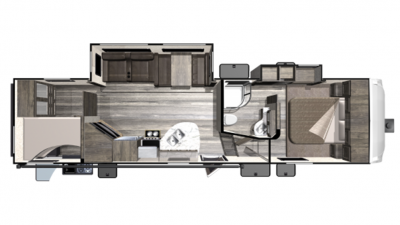 2019 Mesa Ridge Lite MF2950BH Floor Plan Img