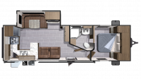 2018 Mesa Ridge Lite MR2804RK Floor Plan
