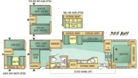 2002 Eagle 325BHS Floor Plan