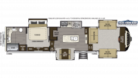 2019 Alpine 3710KP Floor Plan