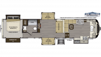 2019 Alpine 3800FK Floor Plan