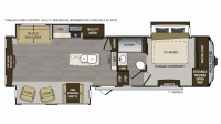 2019 Avalanche 301RE Floor Plan