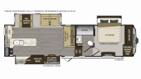 2019 Avalanche 331GR Floor Plan