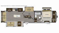 2019 Avalanche 365MB Floor Plan