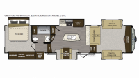 2019 Avalanche 381FL Floor Plan