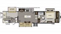 2019 Avalanche 379BH Floor Plan