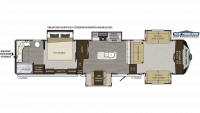 2019 Avalanche 383FL Floor Plan