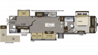 2019 Avalanche 395BH Floor Plan