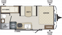 2019 Bullet Crossfire 1700BH Floor Plan
