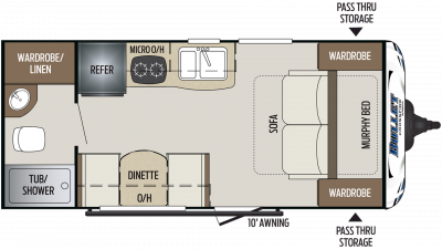 2019 Bullet Crossfire 1800RB Floor Plan Img