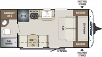 2019 Bullet Crossfire 1800RB Floor Plan