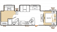 2007 Cougar 304BHS Floor Plan