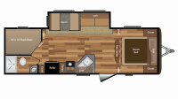 2016 Hideout 272LHS Floor Plan