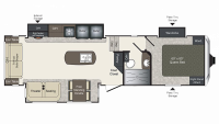 2019 Laredo Super Lite 290SRL Floor Plan