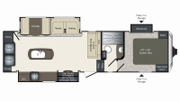 2019 Laredo Super Lite 291SMK Floor Plan