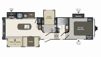 2019 Laredo Super Lite 296SBH Floor Plan