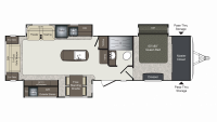 2019 Laredo 330RL Floor Plan