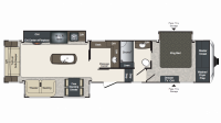 2019 Laredo 358BP Floor Plan