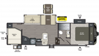 2019 Laredo Super Lite 285SBH Floor Plan